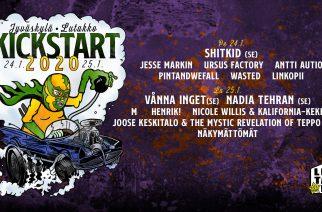 Kickstart-festivaalin ohjelma on valmis