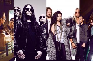 Kuvassa: Four Stroke Baron, Katatonia, Evanescence, Warbringer