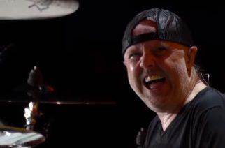 """Ammattilaisten kuvaama video Metallicasta esittämässä """"For Whom The Bell Tolls"""" -kappaletta katsottavissa Aftershock Festivalista"""