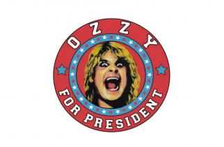 Ozzy Osbournekin mukaan Yhdysvaltojen presidenttikamppailuun – tosin ainoastaan uusien fanituotteiden kuoseissa