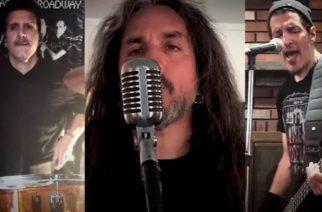 """Katso video Anthraxin ja Death Angelin jäsenistä coveroimassa U2:n """"The Blinding Lights"""" -kappaletta karanteenissa"""