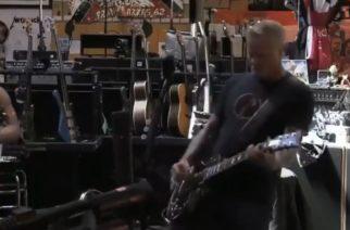 """Metallica soittamassa keikan The Howard Stern Show'n yhteydessä: bändi julkaisi videon """"Battery""""-kappaleen jamittelusta"""