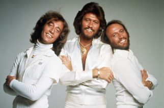 Mandatory Credit: Photo by AP/Shutterstock (7335671a) British pop group the Bee Gees pose for photographers, somewhere in England, Jan. 1979. From left to right; Robin Gibb, Barry Gibb and Maurice Gibb England Bee Gees, United Kingdom England