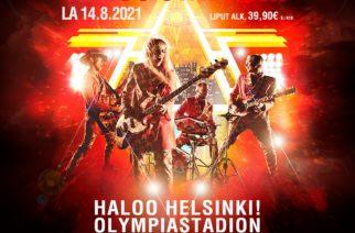 Paluun tehnyt Haloo Helsinki! esiintyy elokuussa Olympiastadionilla
