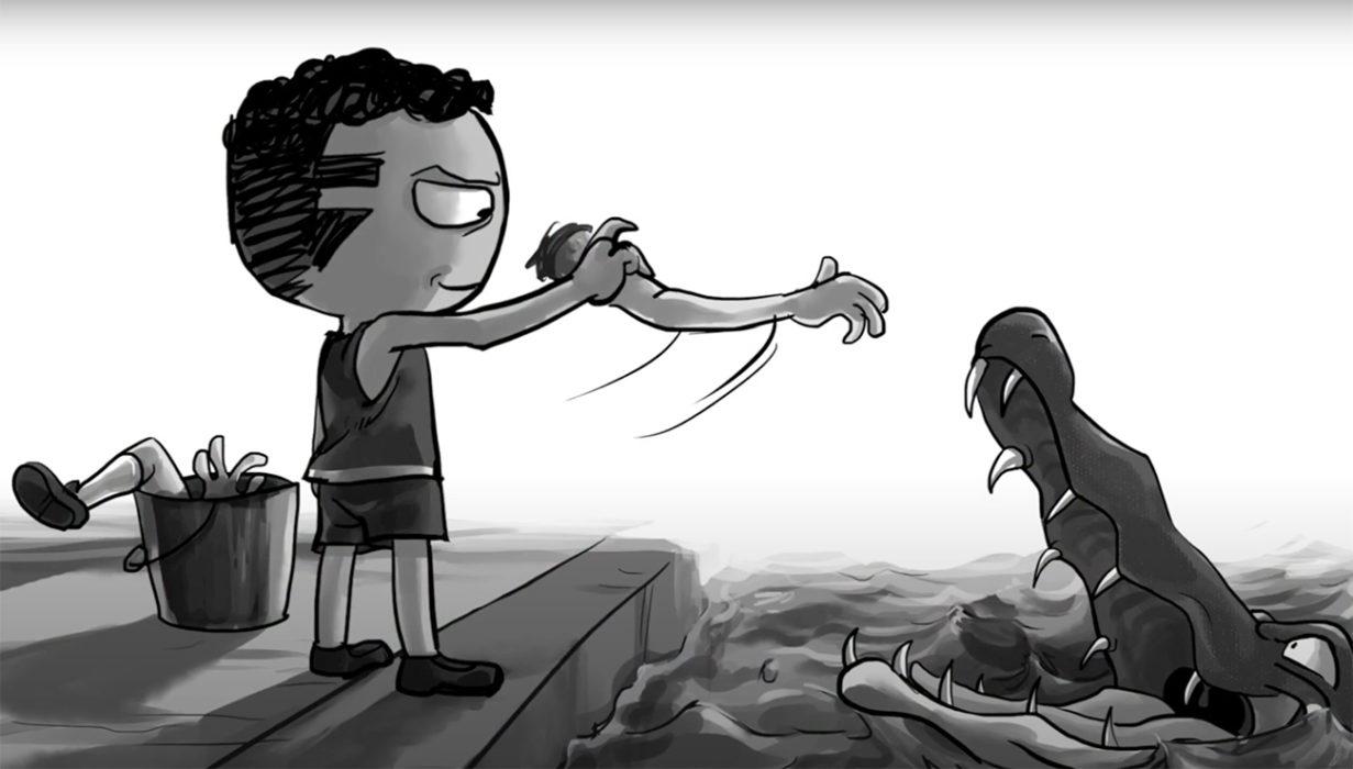 """Macabre julkaisi alligaattorimiehestä kertovasta """"Joe Ball Was His Name"""" -kappaleestaan animoidun videon"""