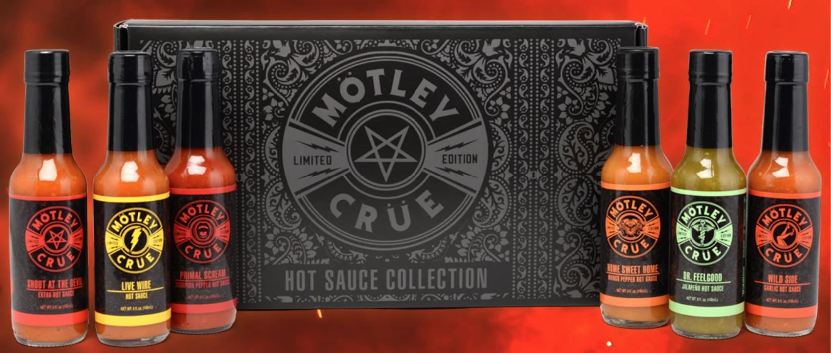 Mötley Crüe tuo markkinoille valikoiman Crüe-aiheisia chilikastikkeita