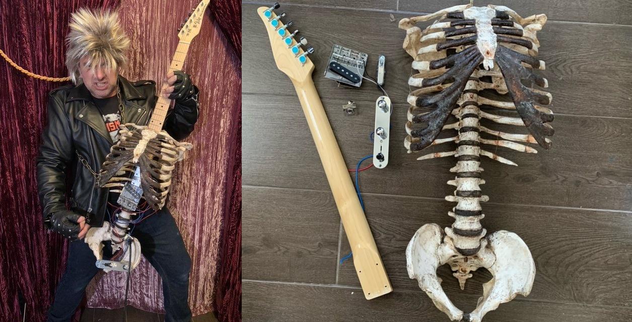 Mies rakensi kitaran kuolleen enonsa luurangosta