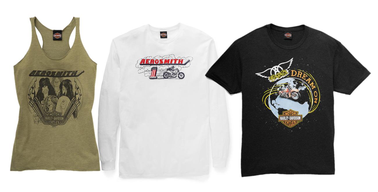 Aerosmith yhteistyöhön Harley-Davidsonin kanssa: tuloksena rajoitettu erä paitaprinttejä