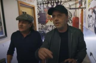 AC/DC:n solisti Brian Johnson pääsi kurkistamaan Metallican päämajaan Lars Ulrichin opastuksella