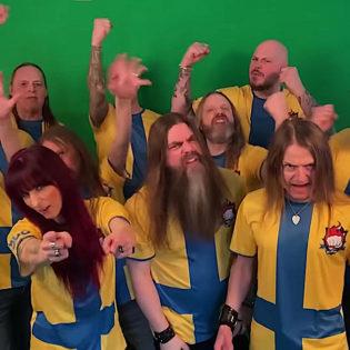 Soilworkin, King Diamondin ja Candlemassin jäsenet tekivät Ruotsin jalkapallomaajoukkueelle oman kannatuslaulun tuleviin EM-kisoihin