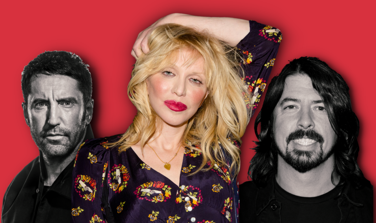 Courtney Love haastaa riitaa ja huolella: tulilinjalla Dave Grohl ja Trent Reznor